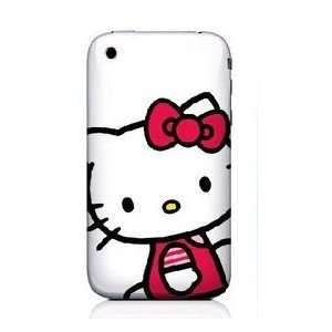 com APPLE IPHONE 3G AND 3GS WHITE SITTING HELLO KITTY WITH PINK SHIRT