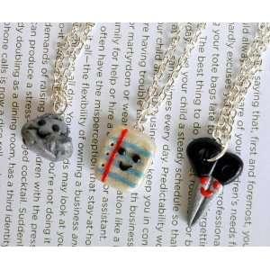 Rock, Paper, Scisssors Best Friend Necklaces