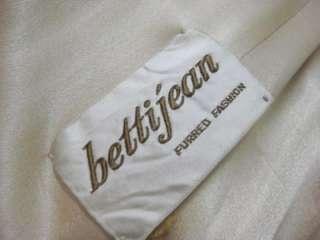 vtg 50s Cream Off White Mink Wool Ladies Coat