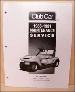 1991 Club Car Gas Golf Cart Owners Manual, Maintenance Service