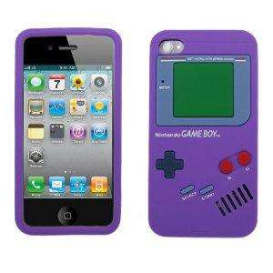New Nintendo Game Boy Soft cover Case for Apple iPhone 4 4G Purple