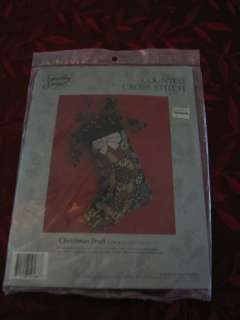 Vintage Counted Cross Stitch Christmas Stocking Kit NEW