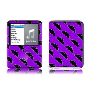 Batty (Purple Bat) Design Protective Decal Skin Sticker for Apple iPod