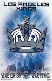 HOCKEY POSTER ~ LOS ANGELES KINGS LOGO NHL 3548