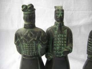 Chinese Vintage Antique Bronze Terra Cotta Warriors