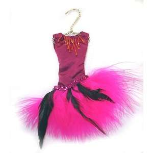 Feather Evening Dress Christmas Ornament 6 #W6942