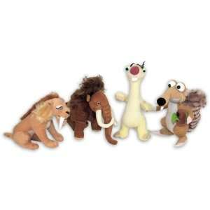 Ice Age 4   4 Piece Plush Doll / Figurine Set (Scrat