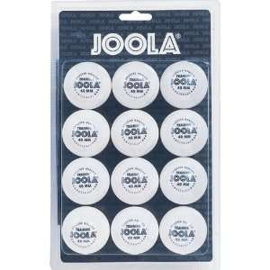 Joola Training Table Tennis Balls   12 Pack White