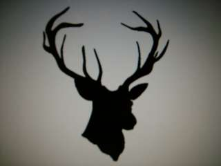 BUCK deer head hunter hunting decal sticker 21 colors