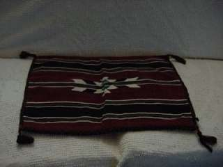 Vtg Native American Indian Blanket Bag Horse Saddle Pouch Mexican
