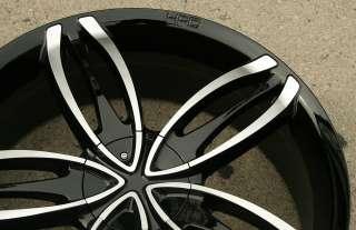 HPD STARLET 22 BLACK RIMS WHEELS BLAZER S 10 SONOMA 4WD / 22 X 8.5 5H