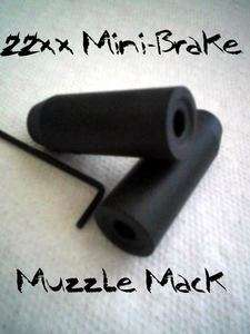 22xx Mini Muzzle Brake   Matte Black