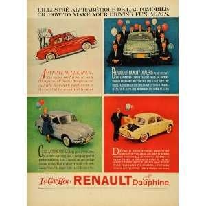 1959 Ad Vintage Renault Dauphine Le Car Hot   Original