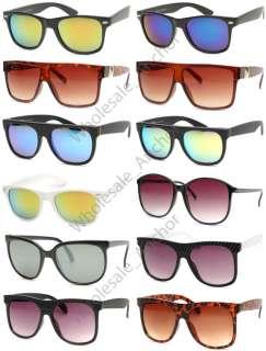 12  RETRO/FLAT TOP/MIRROR/OVERSIZED Wayfarer Sunglasses