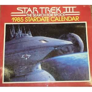 1985 STAR TREK 3 THE SEARCH FOR SPOCK CALENDAR Everything