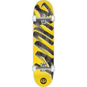 Bullet Signature Complete Skateboard   8.0 Yellow W/Raw Trucks: