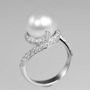 MIKIMOTO Rhapsody 18ct white gold Pearl & Diamond ring
