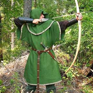 ROBIN HOOD Bandit of Sherwood Forest GREEN ARCHER Medieval TUNIC with