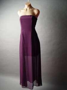 ELEGANT Chiffon Evening Special Occasion Formal Strapless Long Dress