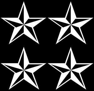 PACK OF 4 Nautical Star punk rocker Logo Decal/Sticker