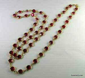 RED Austrian Crystal Choker Necklace 35 Free US Shipping Signed USA