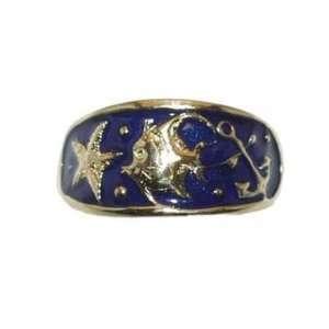 Reyes del Mar 14K Gold Enamel Whimsy Ring