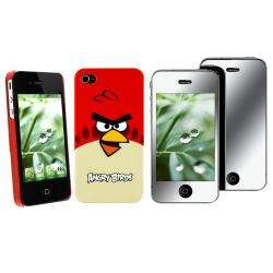 Red Angry Birds Case/ Screen Protector for Apple iPhone 4