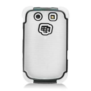 For RIM BlackBerry Torch 9800/9810 Silicone/Hard Dot TPU Case White