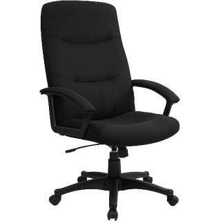Fabric Upholstered Executive High Back Swivel Office Chair Furniture