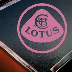 Lotus Pink Decal Elise Truck Bumper Window Vinyl Pink