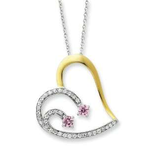 Sterling Silver & Gold Plated Forever By Your Side 18in