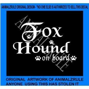 FOX HOUND DOG VINYL DECAL