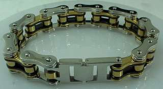 Biker Chain Bracelet Stainless Steel 3/4  Wide 8.5 Length