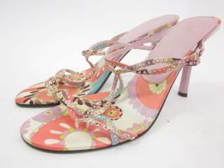 ENZO ANGIOLINI Multi Color Rhinestone Slides Shoes Sz 8