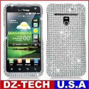 Silver Bling Hard Case Cover for Metro PCS LG Esteem 4G MS910