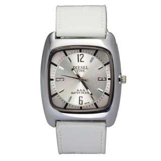 Fashion Square Case Mens Lady Quartz Stainless Steel Wrist Watch