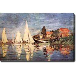 Claude Monet Boats at Argenteuil Giclee Canvas Art