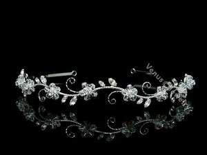 Bridal Flower Rhinestones Crystal Wedding Headband Tiara 7599
