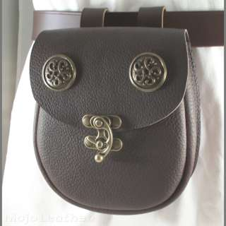 Brown Leather Ring Belt, Bracers, Mug Strap, Pouch LARP