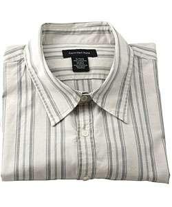 Calvin Klein Mens Beige Striped Shirt