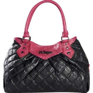 NEW FOX RACING Black/Hot Pink Duffel Tote Bag Purse