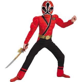 Rangers Red Ranger Samurai Muscle Child Halloween Costume Halloween