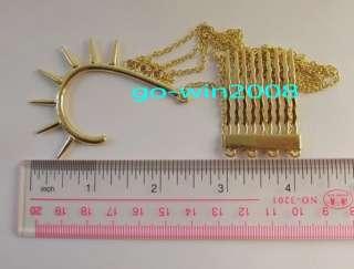 Ear Cuff Hair Comb Gold / Silver Tone Punk Boho Chain Earrings