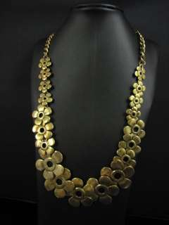 Fashion Style Tibet Gold Tone Flower Necklace Chains MS2034