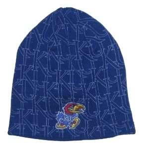 Jayhawks NCAA Adidas Multi Logo Knit Beanie Hat