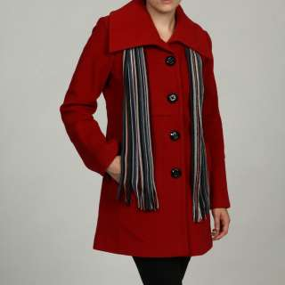 London Fog Womens Wool Single breasted Coat