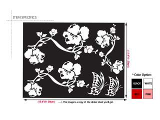 FLOWER VINE ★ ART MURAL PEEL & STICK WALL DECAL STICKER