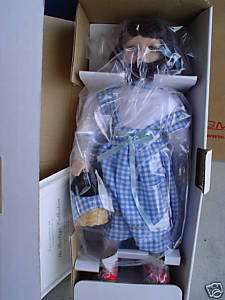 Vintage Porcelain Wizard of Oz Dorothy Doll MIB WOW