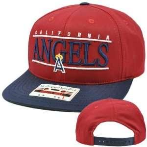Twill Hat Cap Snapback Flat Bill Los Angeles Angels