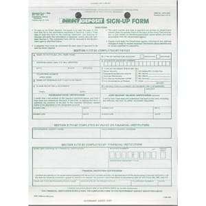 Direct Deposit Sign Up Form Standard Form 1199A